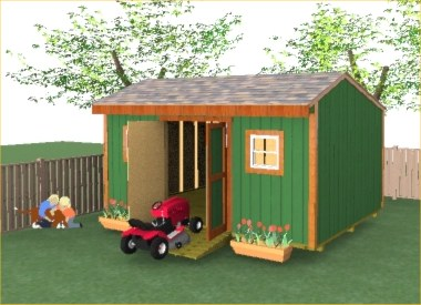 16x12 Saltbox Shed Plans