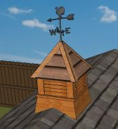 free cupola plans with every shed plan order