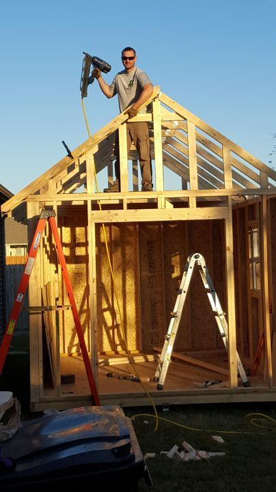 This customer used my 10x12 shed plans.