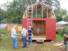 barn shed built with how to build a shed plans