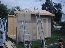 You can easily build a shed like this saltbox style shed