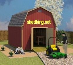 easy build 12x16 barn shed