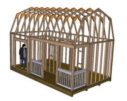 12x20 barn style shed
