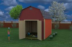 this 10x12 barn shed gives lots of storage