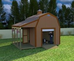 12x16 barn shed plans with side porch