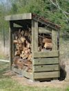 2x8 firewood shed plans