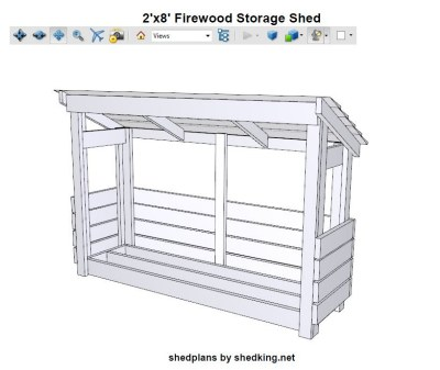 4'x8' Firewood Shed Plans