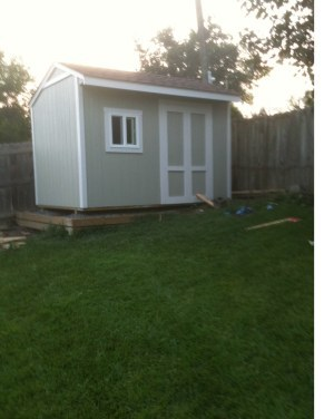 12x8 saltbox shed picture from Jeff