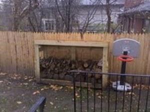 Matt's firewood storage shed