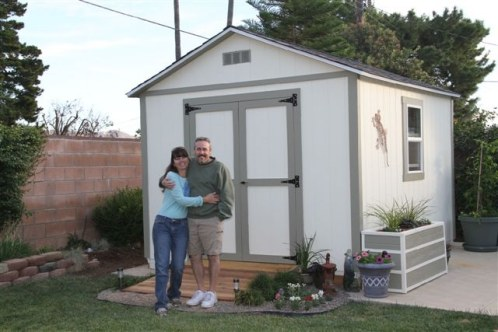 10x12 storage shed built by one of my plan buyers