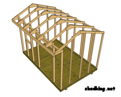 how to build a shed roof saltbox style