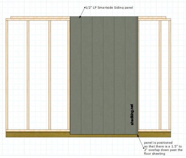 starting the siding for single shed doors