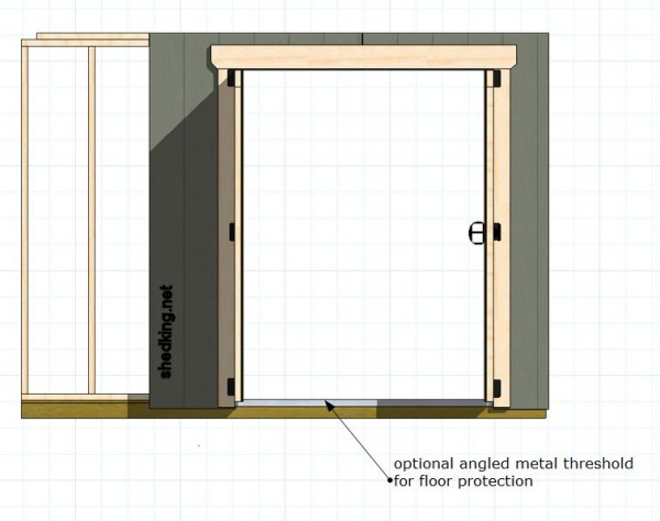 threshold strip for shed doors
