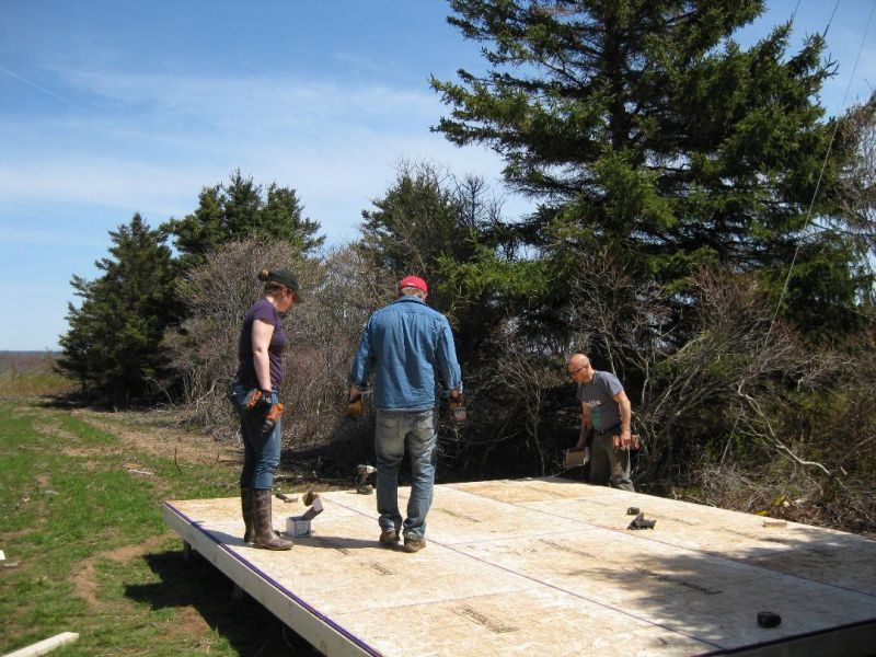How to build a shed floor.
