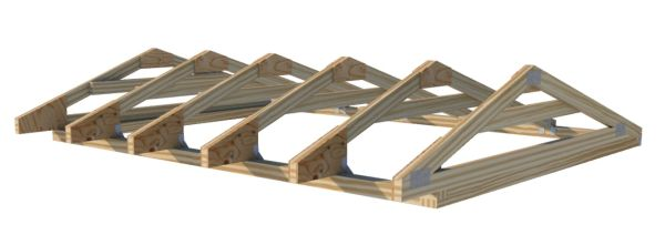 8 foot saltbox truss plans