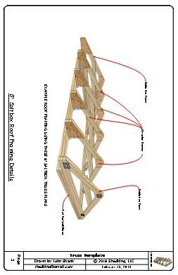 8ft Saltbox Shed Truss Plans