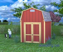 8x10 small barn building plans