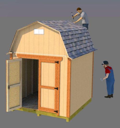 8x10 small barn plans