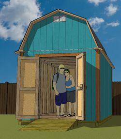 8x12 gambrel shed plans