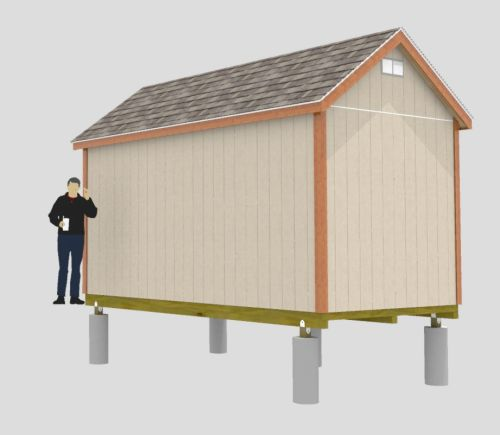 Easy To Build 8x16 Gable Shed