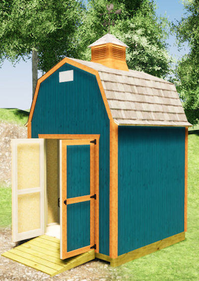 8x8 barn shed plans