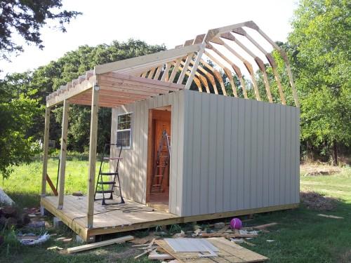 Davids barn shed getting all framed up