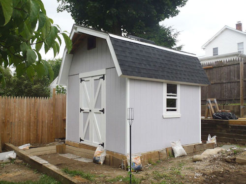 Brian used my 12x12 gambrel shed plans to build this neat shed.