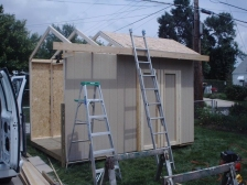 You can easily learn how to build a shed like this saltbox style shed