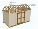 Adding a collar tie for your shed construction