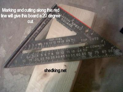 Cutting Shed Truss Angles