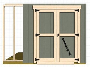 Genial How To Build Double Shed Doors