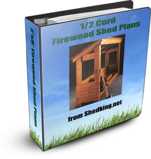 2x8 firewood shed plan ebook cover