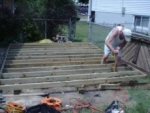 building the gable shed floor