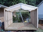 10x12 gable shed building plans uses pre-built trusses