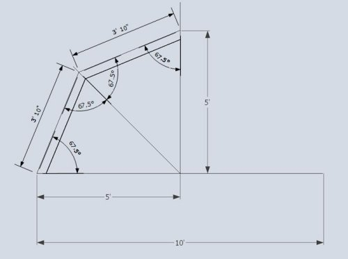 Gambrel 2x4 truss measurements defined