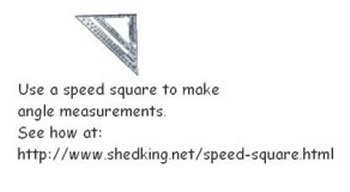 Using a speed square for angle cuts