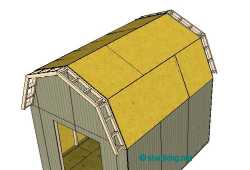 Shed roof gambrel how to build a shed shed roof for Gambrel roof metal building