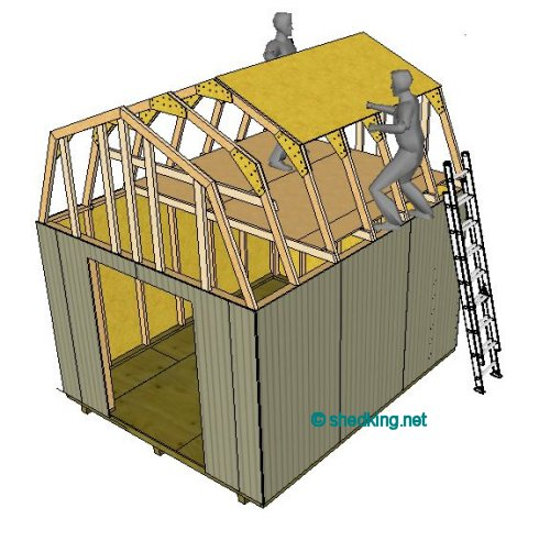 Shed roof gambrel how to build a shed shed roof for Building a shed style roof