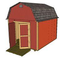 10x12 gambrel shed plans