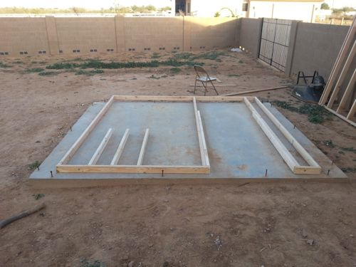 framing a wall on the slab