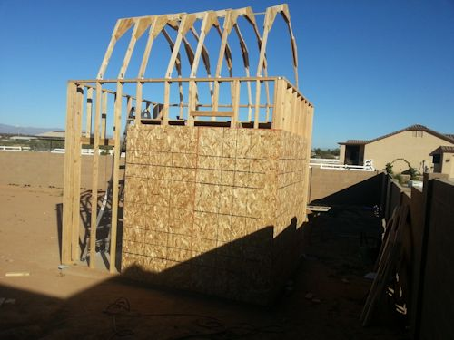 getting the trusses up