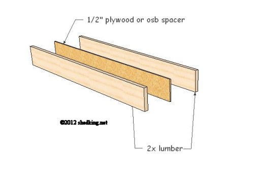 header assembly for shed doors and windows