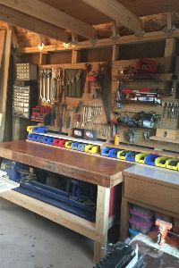 pictures of sheds - Heather's new woodshop