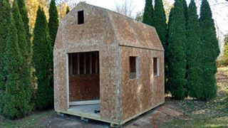 shed ready to be finished