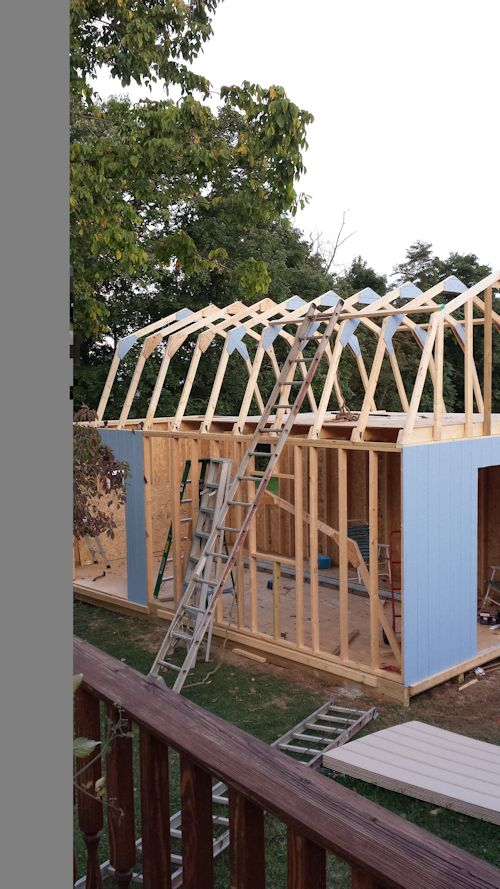 This barn shed is all framed in