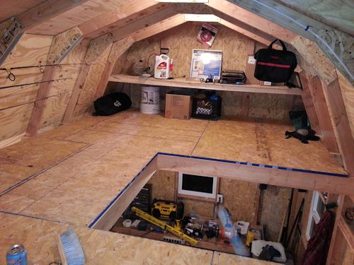 Mikes motorcycle shed for Barn shed with loft plans