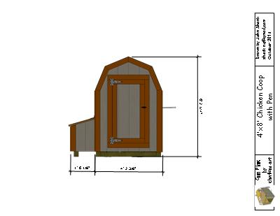 human entrance for the 4x8 chicken coop