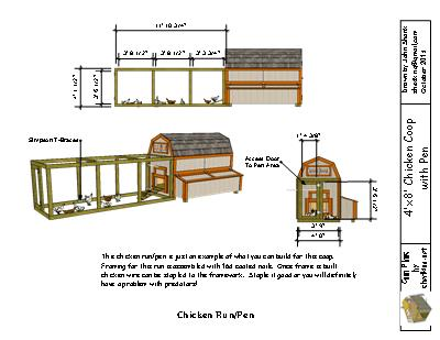 Building the pen for the 4x8 chicken coop