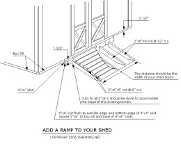 shed ramp blueprints