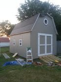 They've got the tar paper on, now its time to add drip edge and shingles.